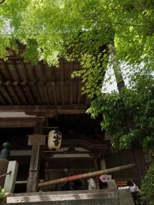 石山寺本堂の入り口。