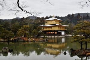 雪と金閣寺