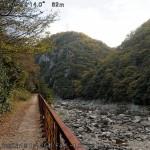 右手に武庫川を眺めながら歩く。しかし、寒い、そして流が清くない…