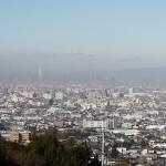 法蔵寺からの眺望。我が家の辺りからハルカスまで見えています。