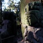 興法寺手前のお地蔵さま。ちょっと日が差し込んでエエ感じやったのでパチリ。