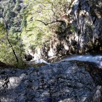 不動の滝の落口