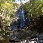 不動の滝落口付近から見た千手の滝